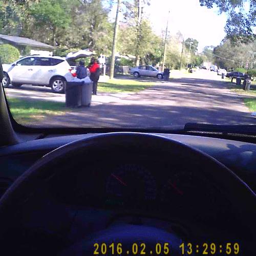 Surveillance photo from fraud investigation.