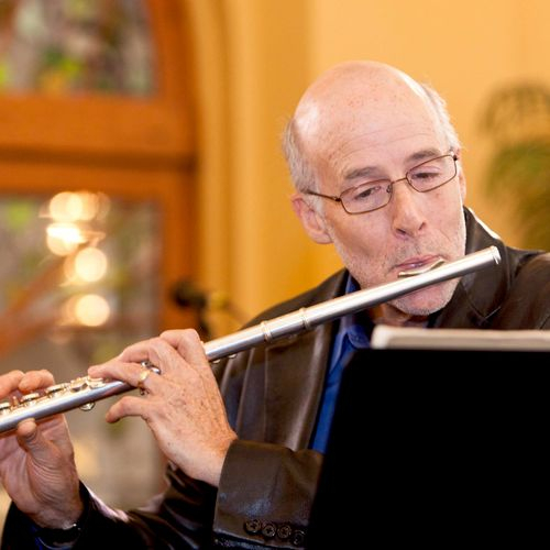 This is me playing the flute at Congregation Beth Shalom, Carmichael, CA, 2013.