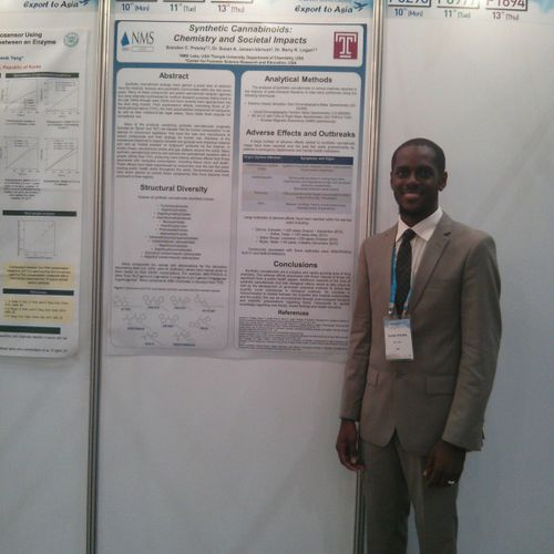 Me in front of a Science Poster that I Presented at a Research Conference in South Korea