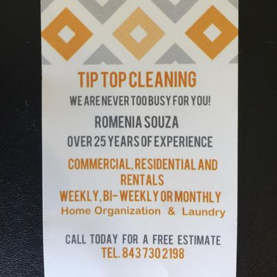 Avatar for Tip Top Cleaning Goose Creek, SC Thumbtack