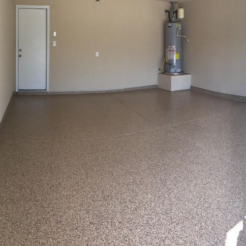 """Copper Mountain 1/4"""" Chip PolyAspartic Floor"""