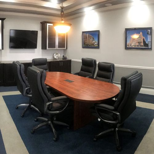 Our Large Conference Room is equipped with Video Conferencing Technology.
