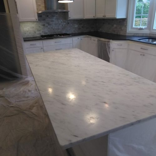 marble top dull,etch and scratch