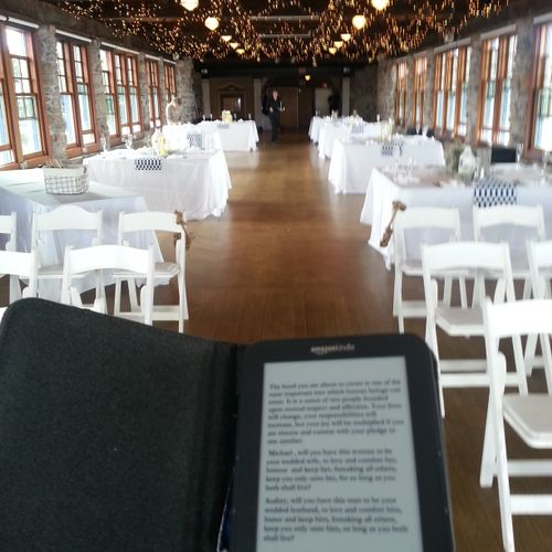 Pre-ceremony at The Towers, Narragansett, RI