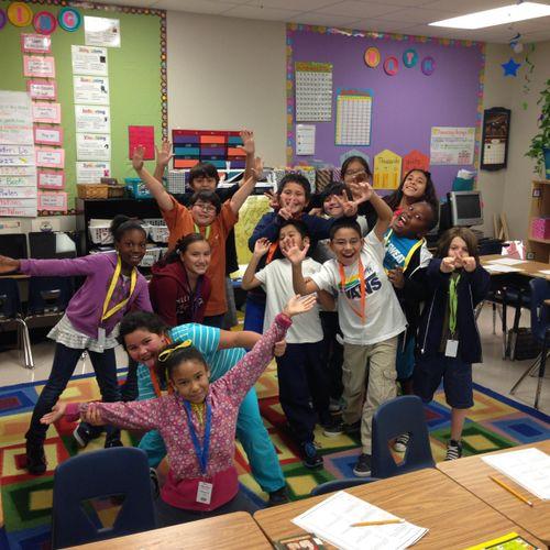Group Photo: Tutoring Elementary students