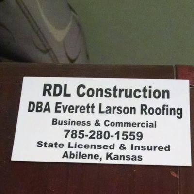 Avatar for RDL Construction DBA Everett Larson Roofing Abilene, KS Thumbtack