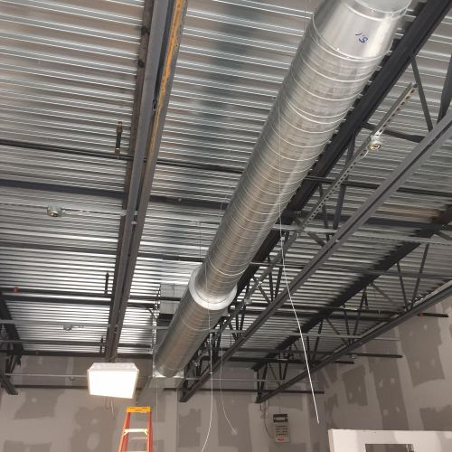 Commercial Ductwork getting put in!