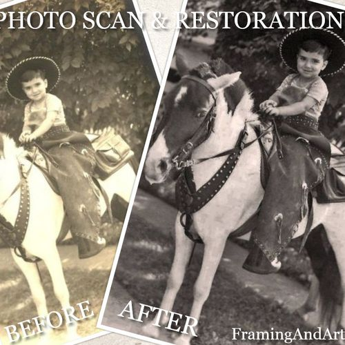We offer services of photo restoration so that you can bring back those cherished family memories.