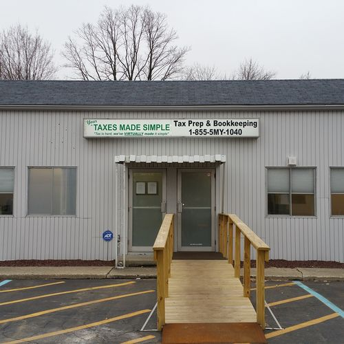 Exterior of our location.  We have renovated this older building to accommodate ADA specifications.