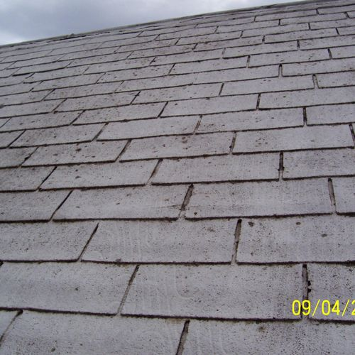 here is an example of an over due roof replacement