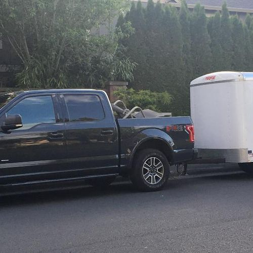 2016 truck with 12' Trailer
