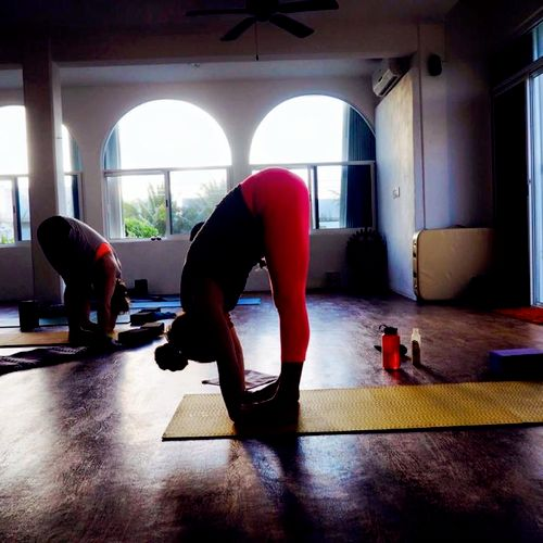 Yoga class at one of my yoga & fitness retreats in Mexico.