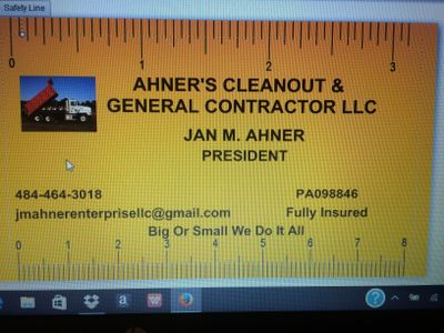 Avatar for Ahner's Cleanout & General Contractor Lehighton, PA Thumbtack
