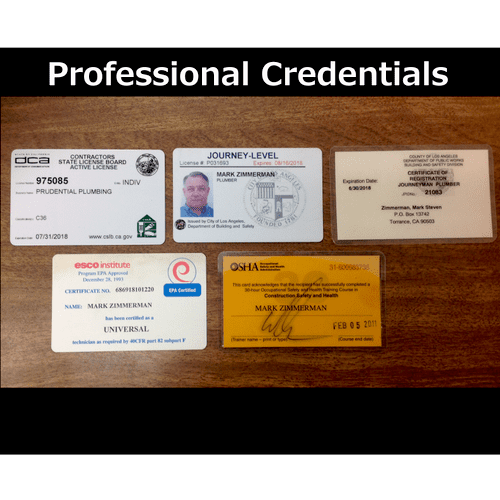 Plumbing Credentials