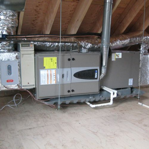 new furnace installation + ductwork