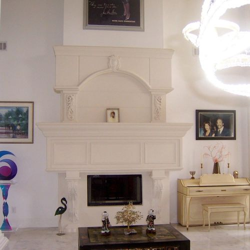 Custom fireplace featured in Southern Living