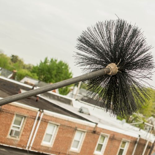 A connecting teflon brush for thorough chimney cleaning