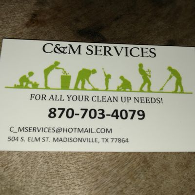 Avatar for C&M Services Madisonville, TX Thumbtack