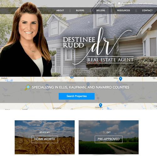 Destinee Rudd Real Estate - Website Design