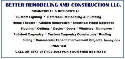 Avatar for Better Remodeling & Construction llc.
