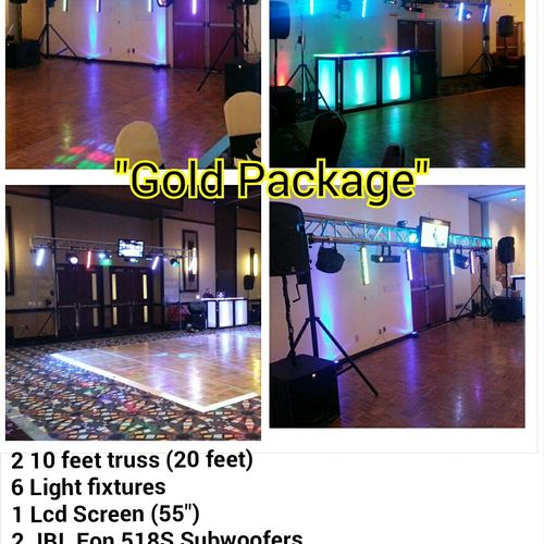 The Gold Package is our medium size set up, it is designed for up to 130 guest size reception