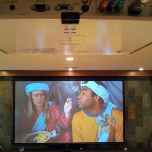 """120"""" Home theater install"""