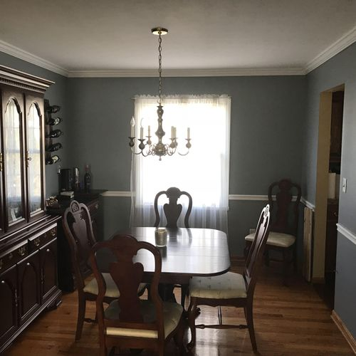 Dining Room with Crown