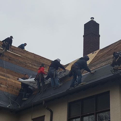 Professional teamwork to get the job done.