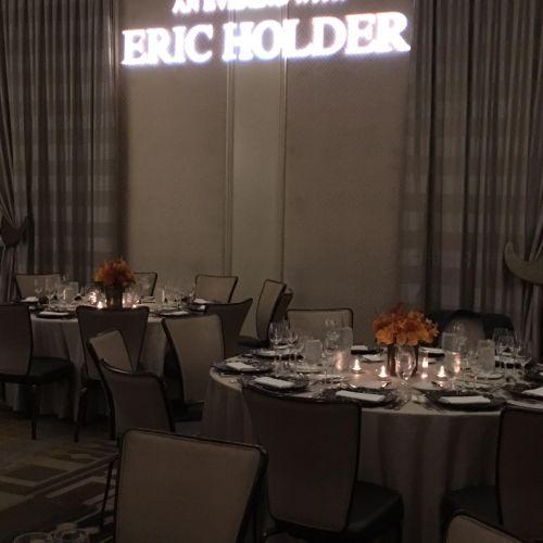 formal dinner for former Attorney General Eric Holder