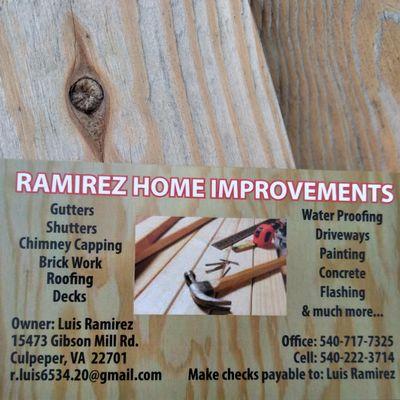 Avatar for Ramírez Home improvements Culpeper, VA Thumbtack