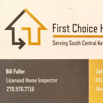 Avatar for First Choice Home Inspections Alvaton, KY Thumbtack