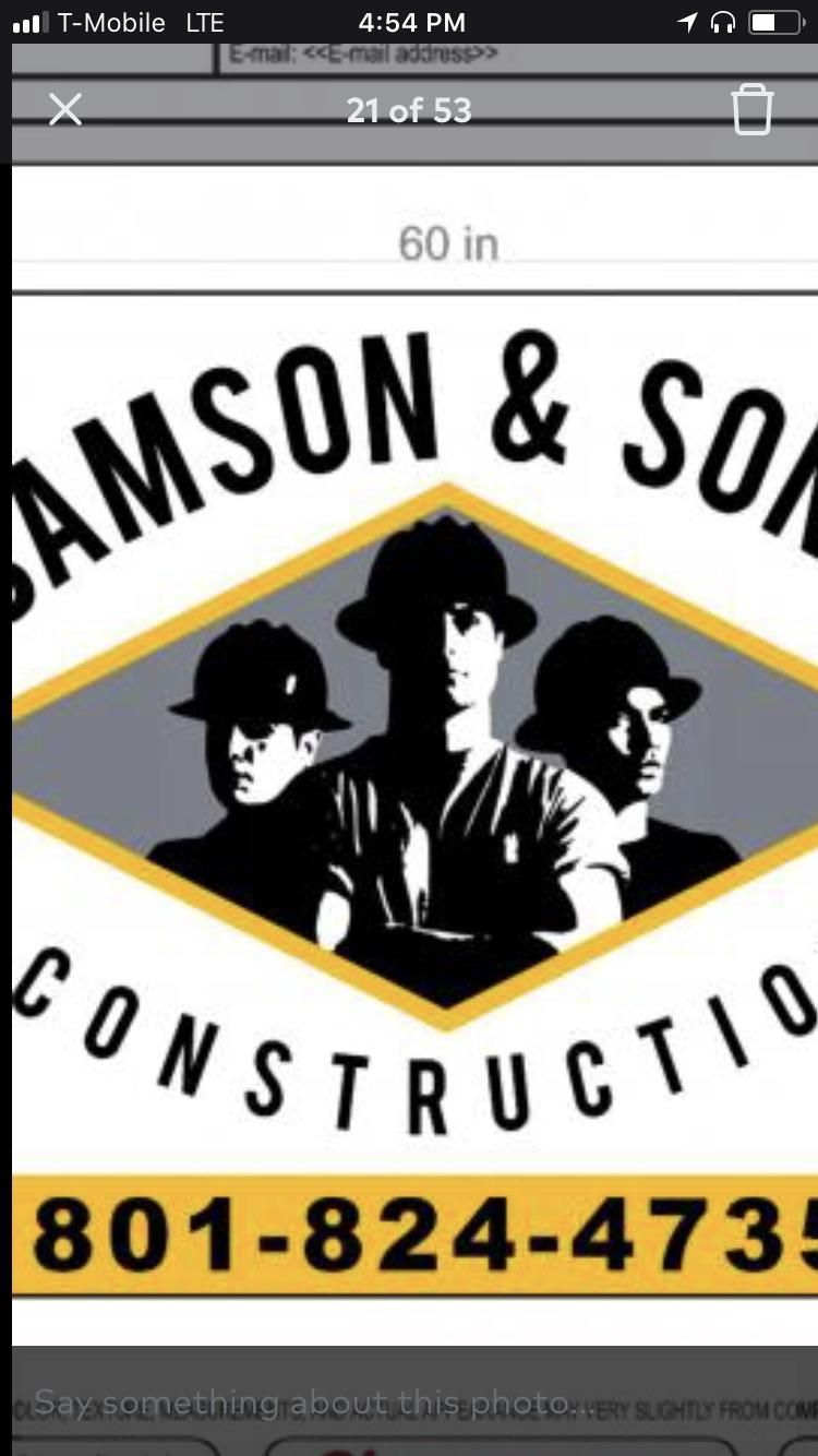 Samson & Sons Construction