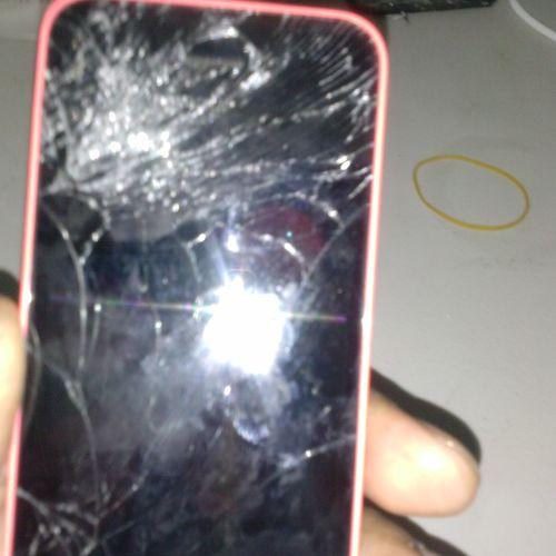 Iphone 5c Before repair picture