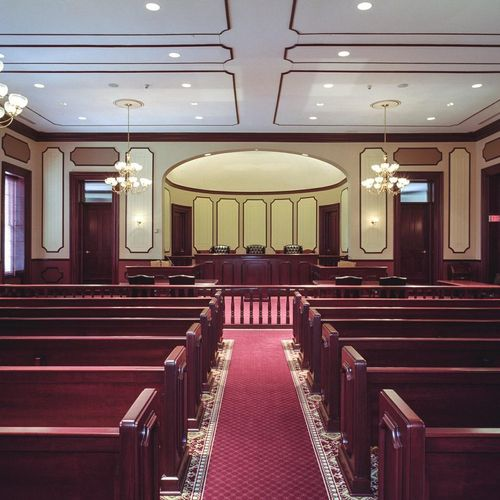 Historic Ocean County Courtroom.