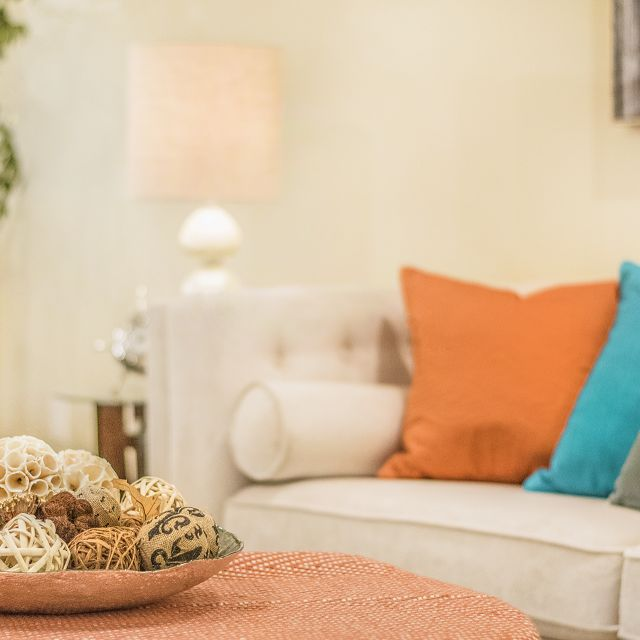 White Couch Staging