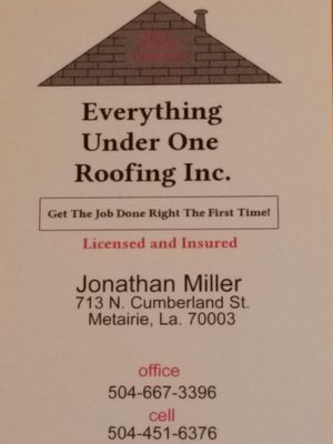 Avatar for Everything under one roofing Inc. Metairie, LA Thumbtack