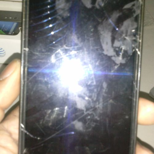 Samsung Galaxy Note 2 Before repair picture