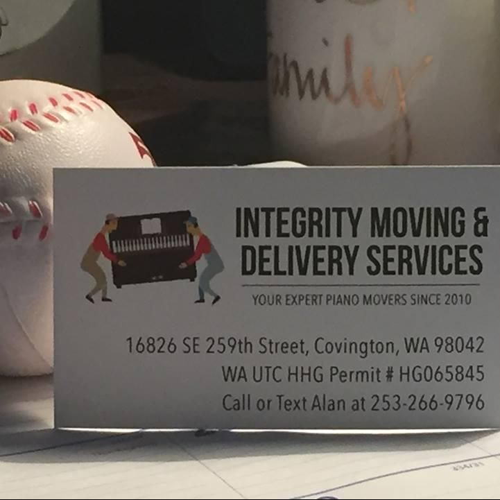 Integrity Moving and Delivery Services.