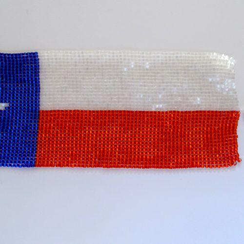 custom hand-stitched Texas bookmark