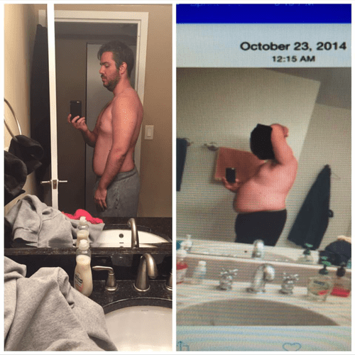 One of my top three transformations. -76lbs