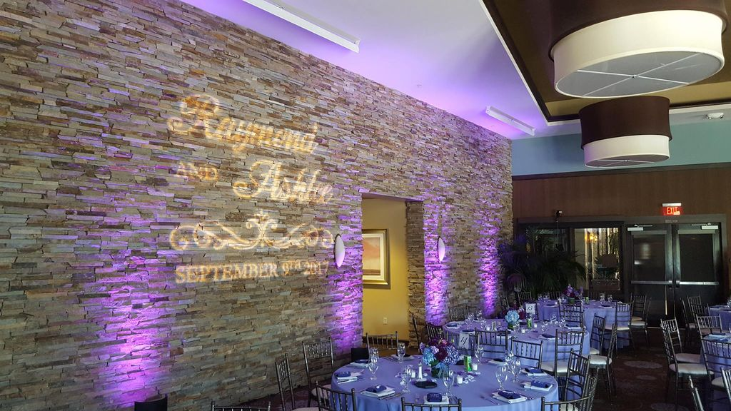 Wedding Monogram and Uplighting