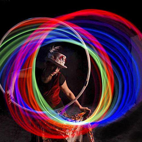 Anna with LED hoop