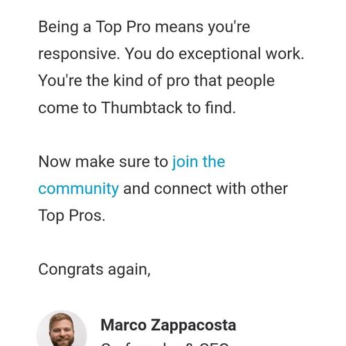 Company voted as Top Pro.