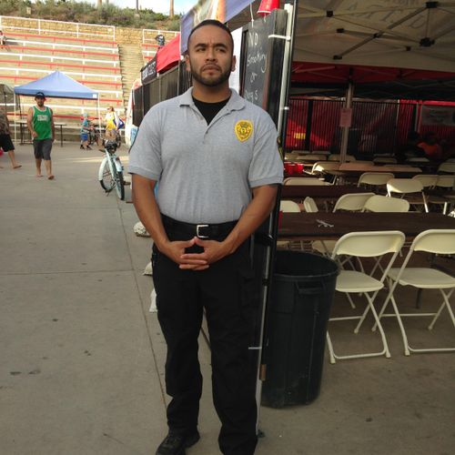 Security Supervisor Jairo Rangel at Longboarders Surfing Contest at Oceanside Amphi Theatre