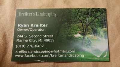 Avatar for Kreilter's Landscaping Marine City, MI Thumbtack
