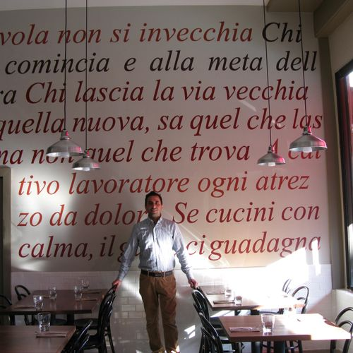 Commercial Mural. Il Casaro Restaurant, North Beach ( the old Steps of Rome restaurant)