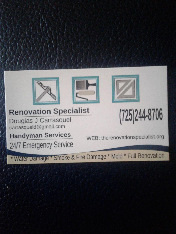 Renovation Specialist & Handyman Services