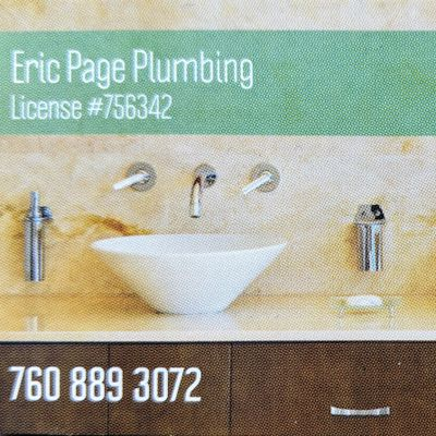 Avatar for Eric Page Plumbing Vista, CA Thumbtack