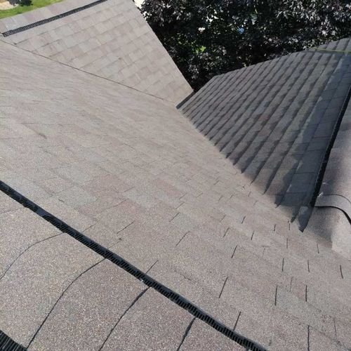 Valley cuts are incredibly important! We ensure all underlayment are to code and the shingle cut lines are straight!