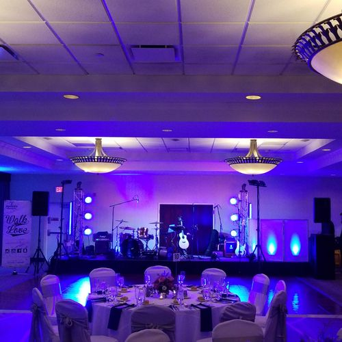 A look at our general setup.  we offer expanded lighting packages as well!